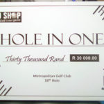 Robomojo Creations laser engrave Strand Out of Bounds hole in one cheque