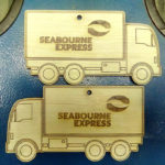 Robomojo Creactons laser engrave Strand Seabourne Christmas decorations