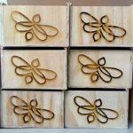 Robomojo Creations laser engrave Strand Mamabuci honey boxes engraved side