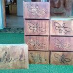 Robomojo Creations laser engrave Mamabuci honey boxes engraved