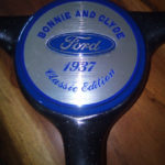 Robomojo Creations laser engrave Strand Center cap for old car resin dome
